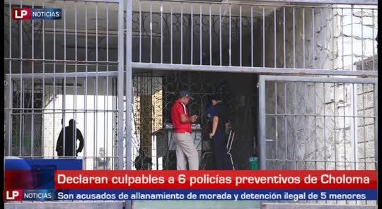 Culpables 6 policías preventivos de Choloma