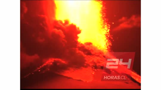 Así fue la erupción del Volcán Villarrica en Chile