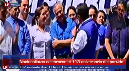 Presidente Hernández encabezó el 113 aniversario del PN