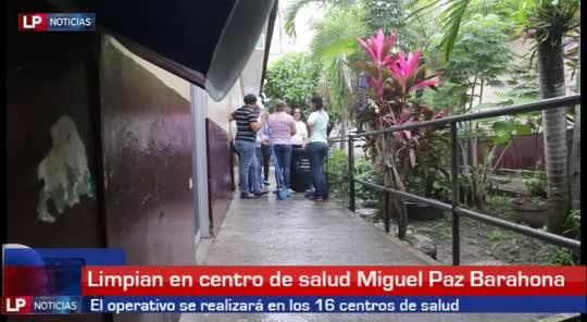 Limpian el centro de salud Miguel Paz Barahona de SPS
