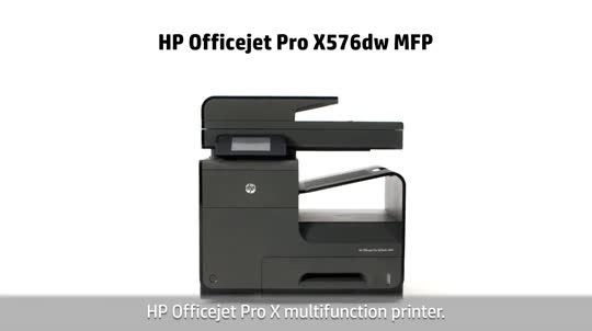 HP Officejet Pro X576dw Multifunction Printer video demo - English