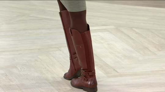 Marc Fisher Wide Calf Leather Riding Boots - Audrey - Page 1 — QVC.com