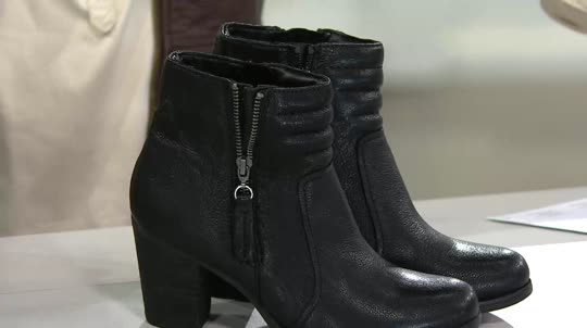 Clarks Artisan Leather or Nubuck Ankle Boots - Palma Trina. Back to video.  On-Air Presentation
