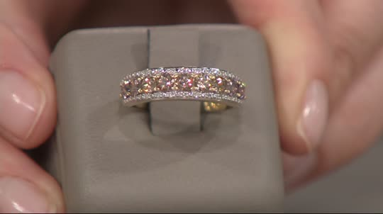 Color Change Garnet & Diamond Band Ring 14K Gold 1 00 cttw Page