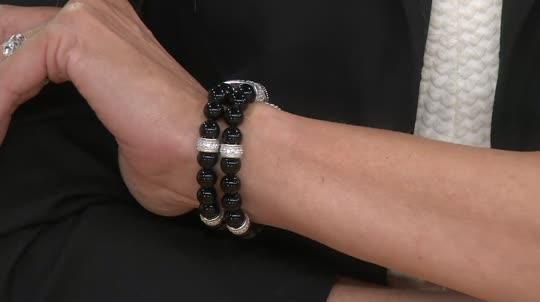 Judith Ripka Sterling Average Gemstone Bead Bracelet Back To Video On Air Presentation
