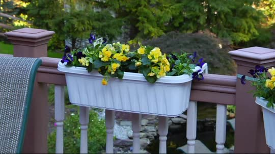 On-Air Presentation - Set Of 2 Large Adjustable Deck & Railing Planters - Page 1 €� QVC.com