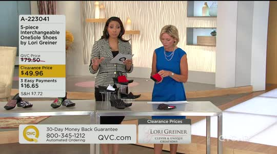 5-Piece Interchangeable OneSole Shoes by Lori Greiner ...