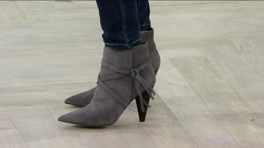 Marc Fisher Suede Pointed Toe Ankle Boots - Fanatic. Back to video. On-Air  Presentation - Marc Fisher Suede Pointed Toe Ankle Boots - Fanatic - Page 1 — QVC.com