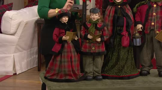 2-piece Dickens Children Carolers by Valerie - Page 1 — QVC.com