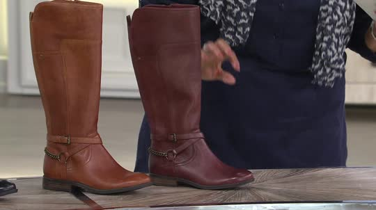 Marc Fisher Leather Wide Calf Boots - Alexis - Page 1 — QVC.com
