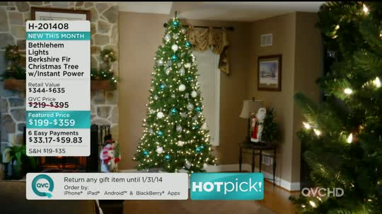 Bethlehem Lights 75' Berkshire Fir Christmas Tree Winstant Power