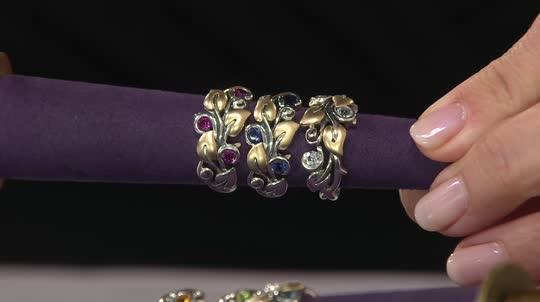 Barbara Bixby Sterling Amp 18k Semi Precious Gemstone Vine