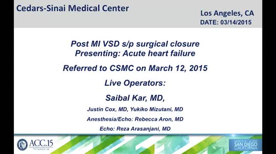 TCT@ACC-i2 2015: Live Case - Cedars-Sinai Medical Center, Los Angeles, CA- II