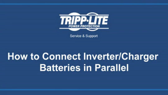 How to Connect Inverter Batteries in Parallel Demo