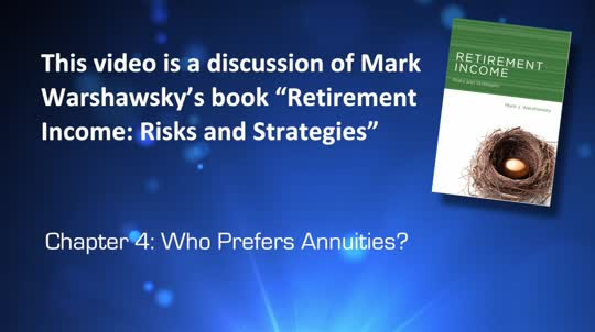 Who Prefers Annuities?