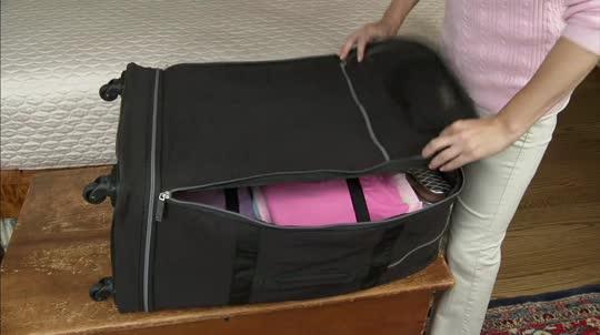 """Samantha Brown Luggage Qvc: Biaggi Zip Sak 31"""" Foldable Luggage By Lori Greiner"""