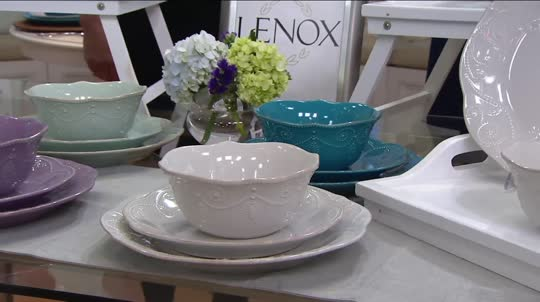 On-Air Presentation & Lenox French Perle 12-pc Dinnerware Set - Page 1 u2014 QVC.com