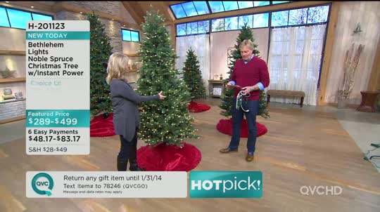 On-Air Presentation - Bethlehem Lights 6.5' Noble Spruce Christmas Tree W/Instant Power