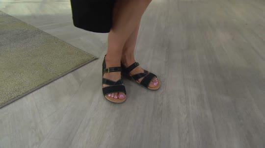 13151b2ea3a356 Spenco Leather Orthotic Quarter Strap Sandals -Ashley - Page 1 — QVC.com