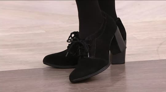 e38776b6701b4 Clarks Suede Lace-up Shooties - Araya Hale. Back to video. On-Air  Presentation