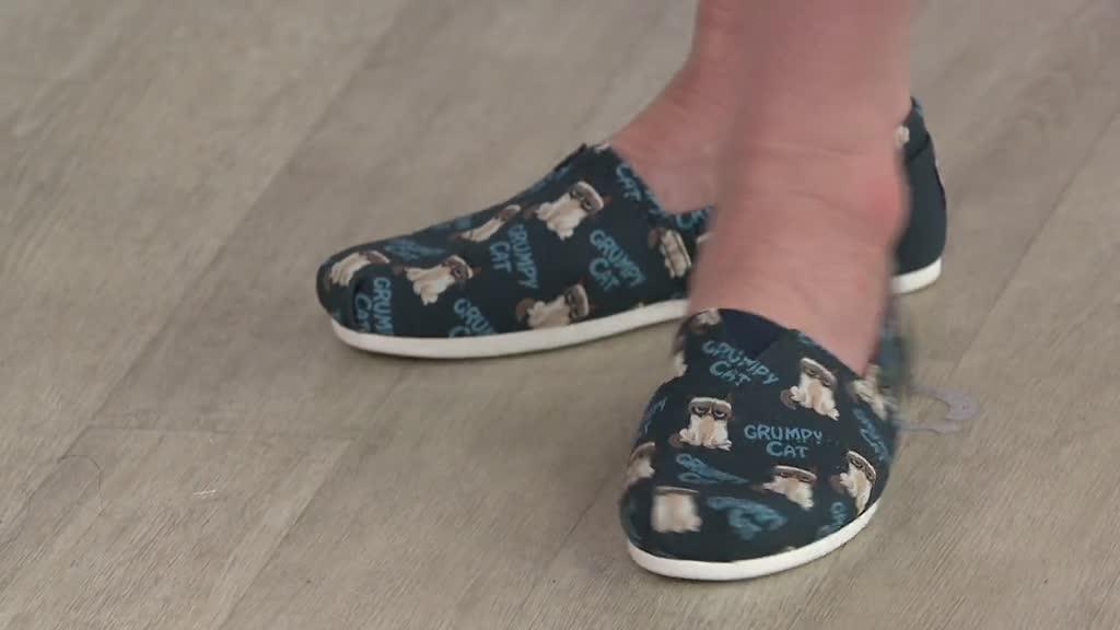 Shoes - Grumpy Cat Cranky Pants - QVC