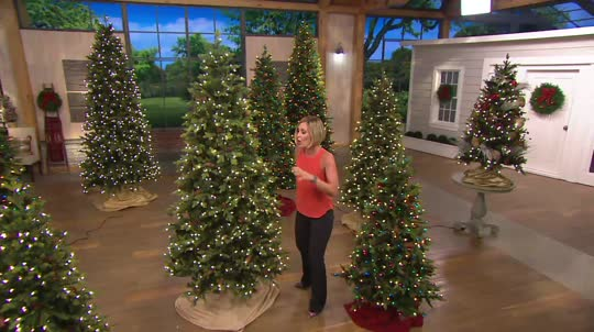 On-Air Presentation - Bethlehem Lights 9' Noble Spruce Christmas Tree W/Instant Power