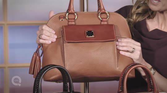 2f34cbdaee Dooney   Bourke Pebble Leather Aubrey Satchel with Accessories - Page 1 —  QVC.com