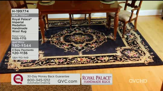 Royal Palace 30 X 50 Imperial Medallion Wool Rug Page 1 Qvc Com