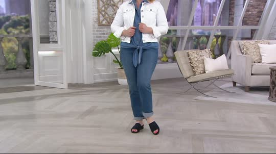 bdeec28c248f CLOUDSTEPPERS by Clarks Single Band Slides - Caddell Ivy - Page 1 — QVC.com