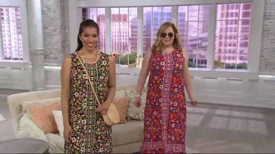 e9026527caf C. Wonder Petite Knit Engineered Floral Print Knit Maxi Dress. Back to  video. On-Air Presentation