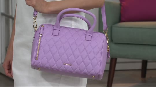 f14d49759171 Vera Bradley Quilted Leather Satchel -Marlo. Back to video. On-Air  Presentation