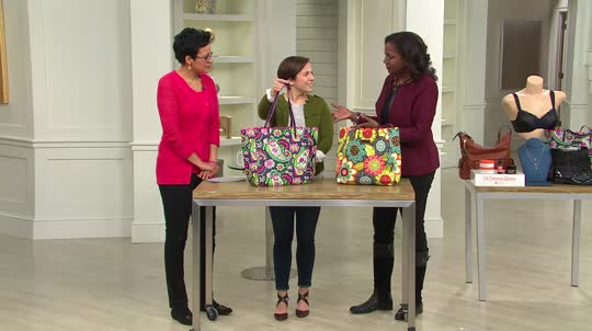5062b47db9 Vera Bradley Faux Leather Scalloped Edge Tote Bag. Back to video. On-Air  Presentation