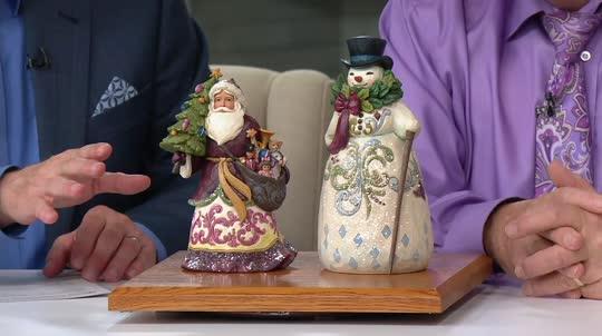 Jim shore victorian christmas santa figurine u2014 qvc.com
