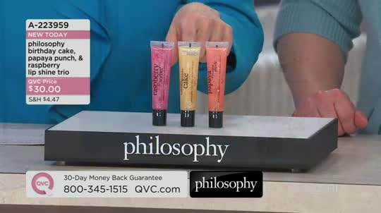 Philosophy Birthday Cake Papaya Punch Raspberry Lip Shine Trio Back To Video Product Thumbnail Other Limelight