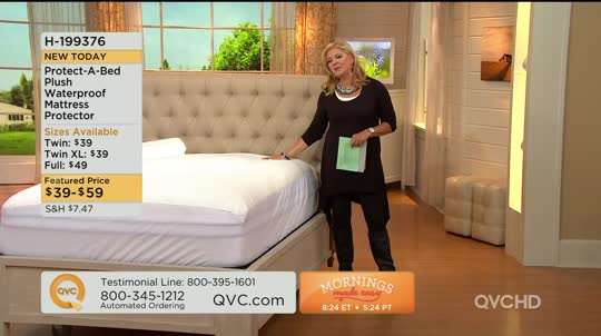 Protect A Bed Queen Plush Waterproof Mattress Protector — QVC