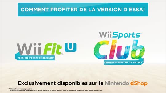 Wii Fit U & Wii Sports Club : Version d'essai