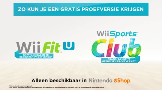 Wii Fit U & Wii Sports Club: gratis proefversie