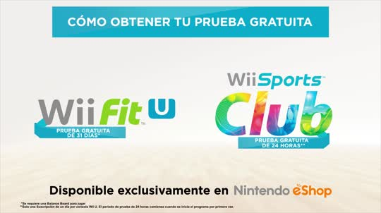 Wii Fit U & Wii Sports Club: Prueba gratuita